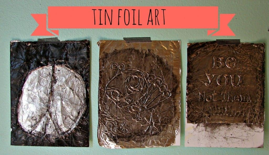 tin foil art work