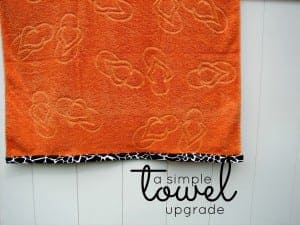 an easy beach towel redo