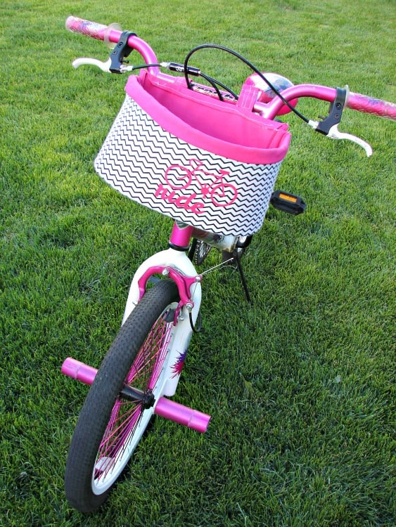 How to Make a Bike Basket with A Girl and A Glue Gun