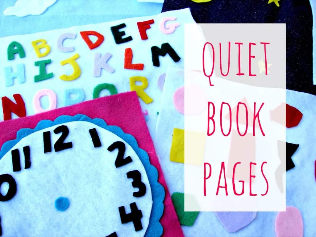 felt and hot glue quiet book pages
