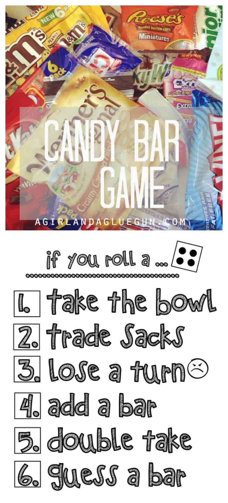 fun candy bar game