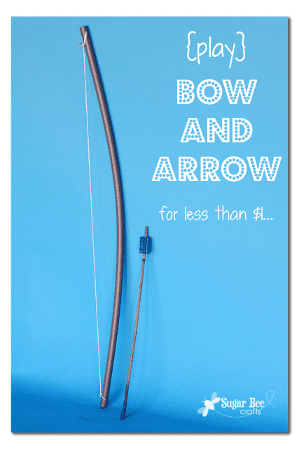 how to make a play bow and arrow