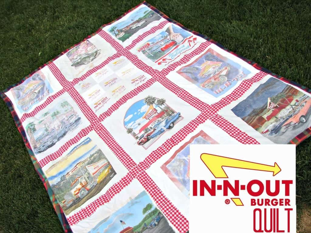 in and out burger quilt