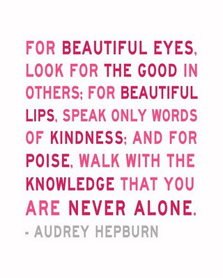 You Are Never Alone Audrey Hepburn Quote Sm