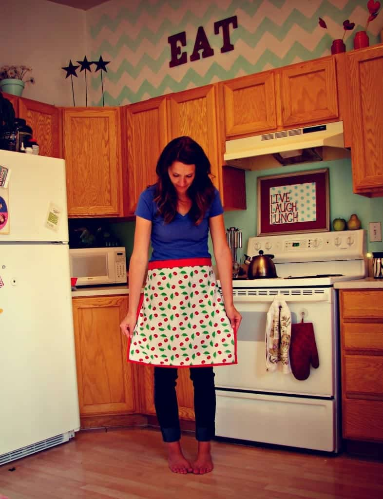 apron in kitchen