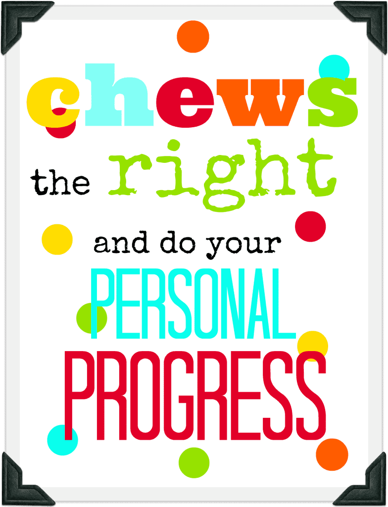 chews the right