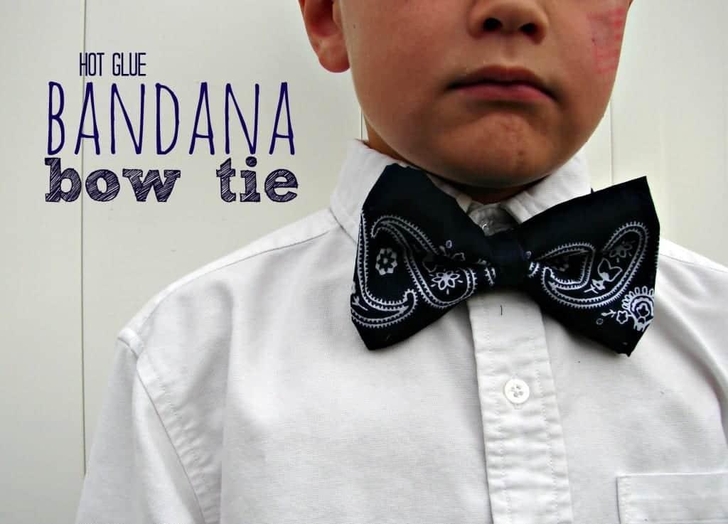 hot glue bandana bow tie
