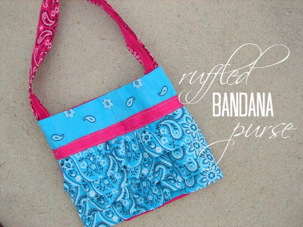 ruffled bandana purse