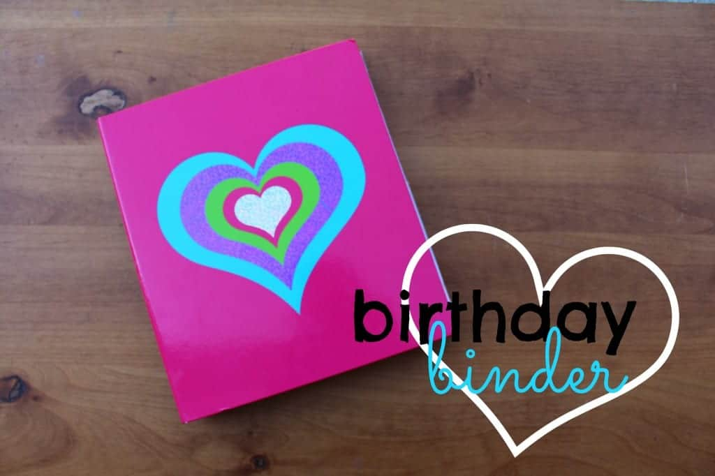 birthday binder