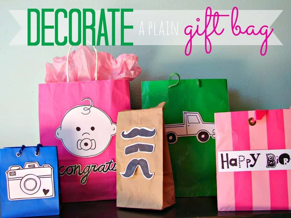 decorate a plain gift bag 2