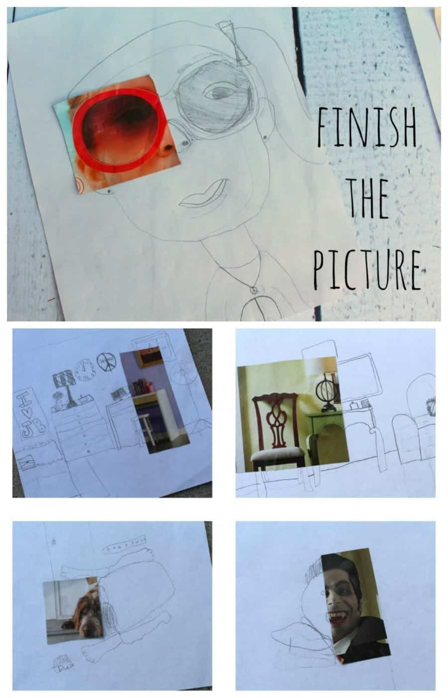 finish the picture kids craft artwork