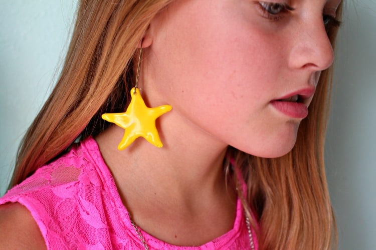 glue gun earrings