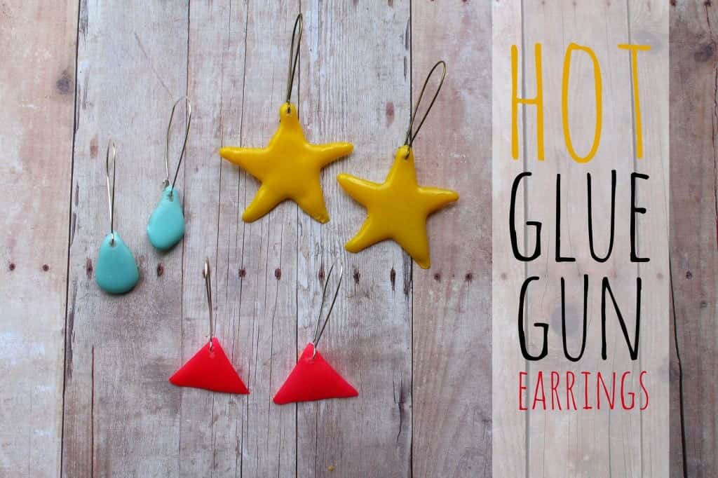 hot glue gun earrings