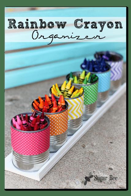 rainbow crayon organizer