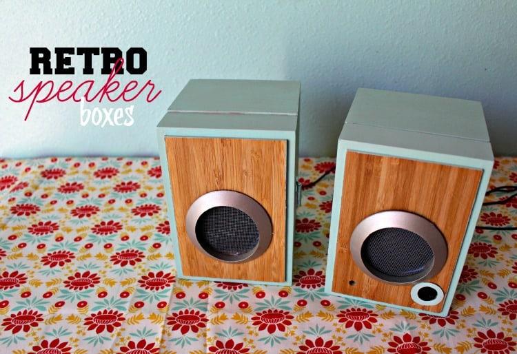 retro speaker boxes
