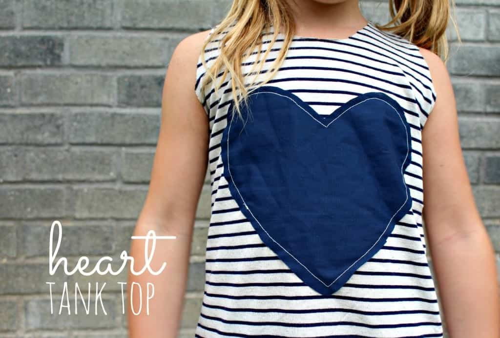 tank top with heart