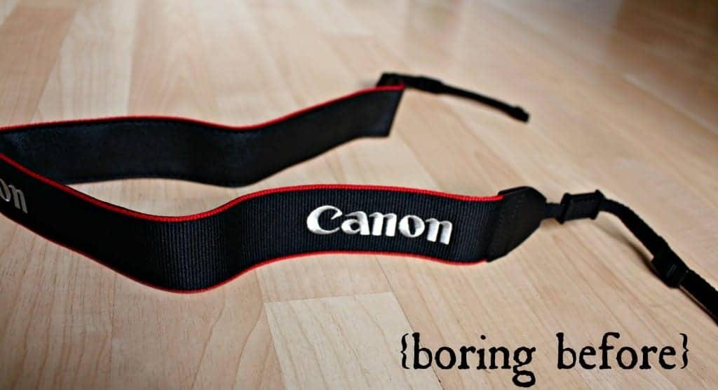 camera strap before