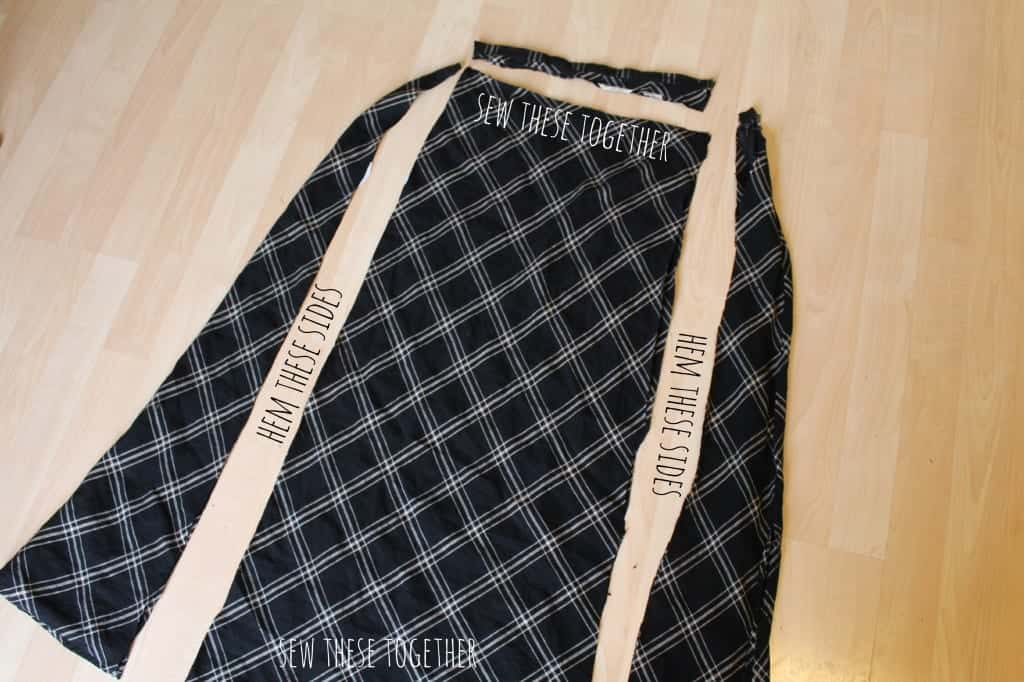skirt to scarf instructions