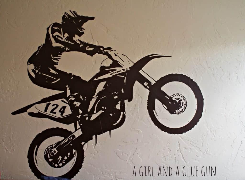 a girl and a glue gun motorcycle vinyl