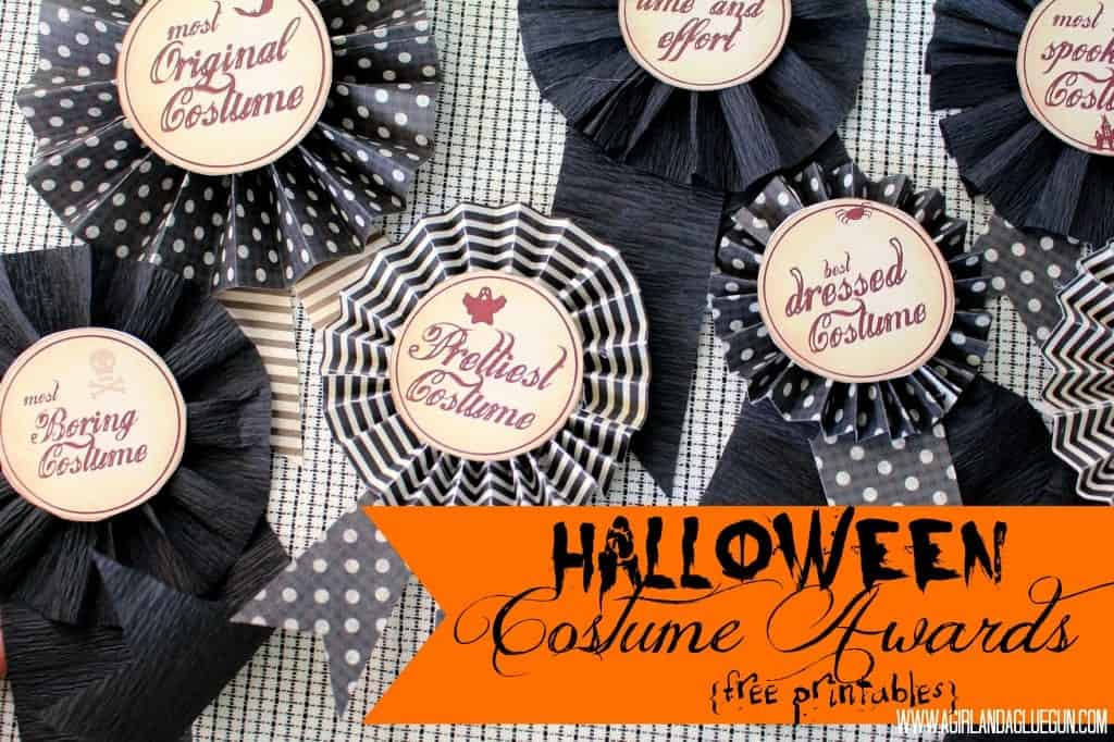 halloween costume awards with free printables