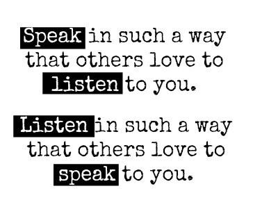 speak listen