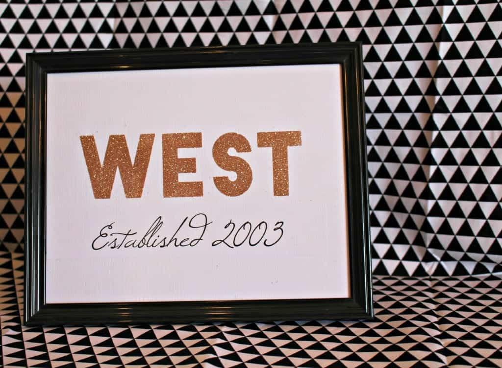 west framed