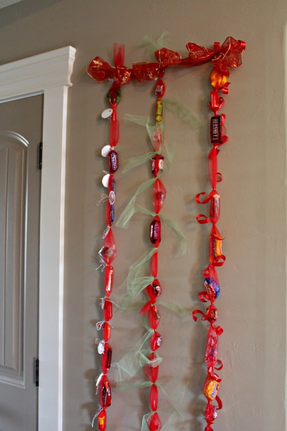 christmas candy countdown hung up