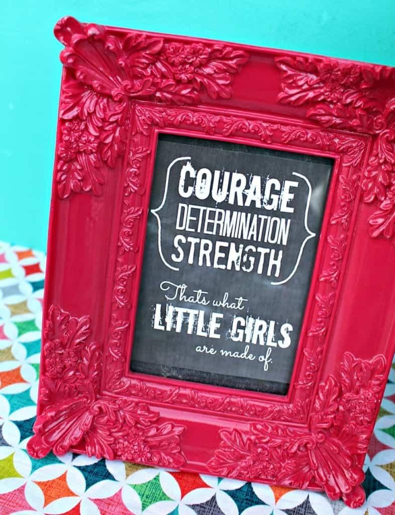 courage little girl printable