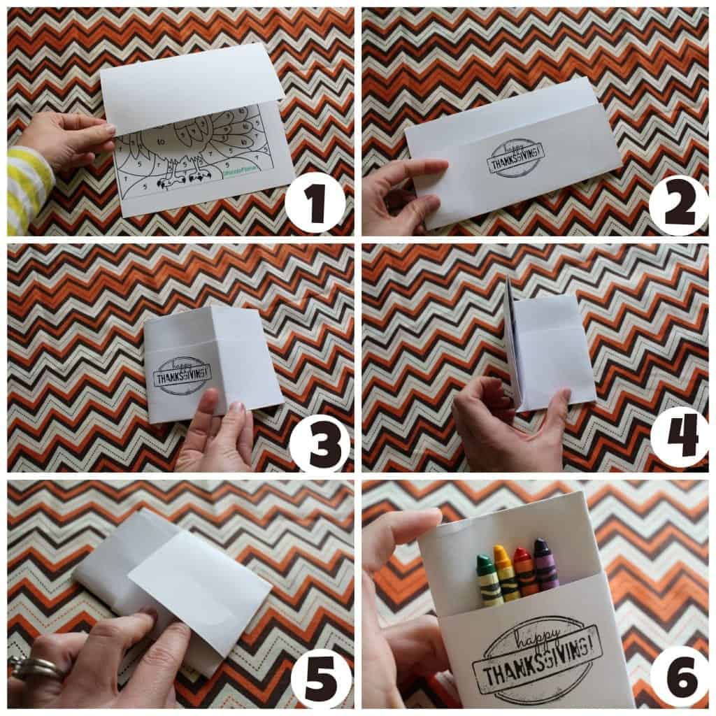 folding thanksgiving paper how to