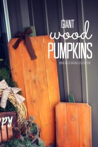 giant wood slat pumpkins