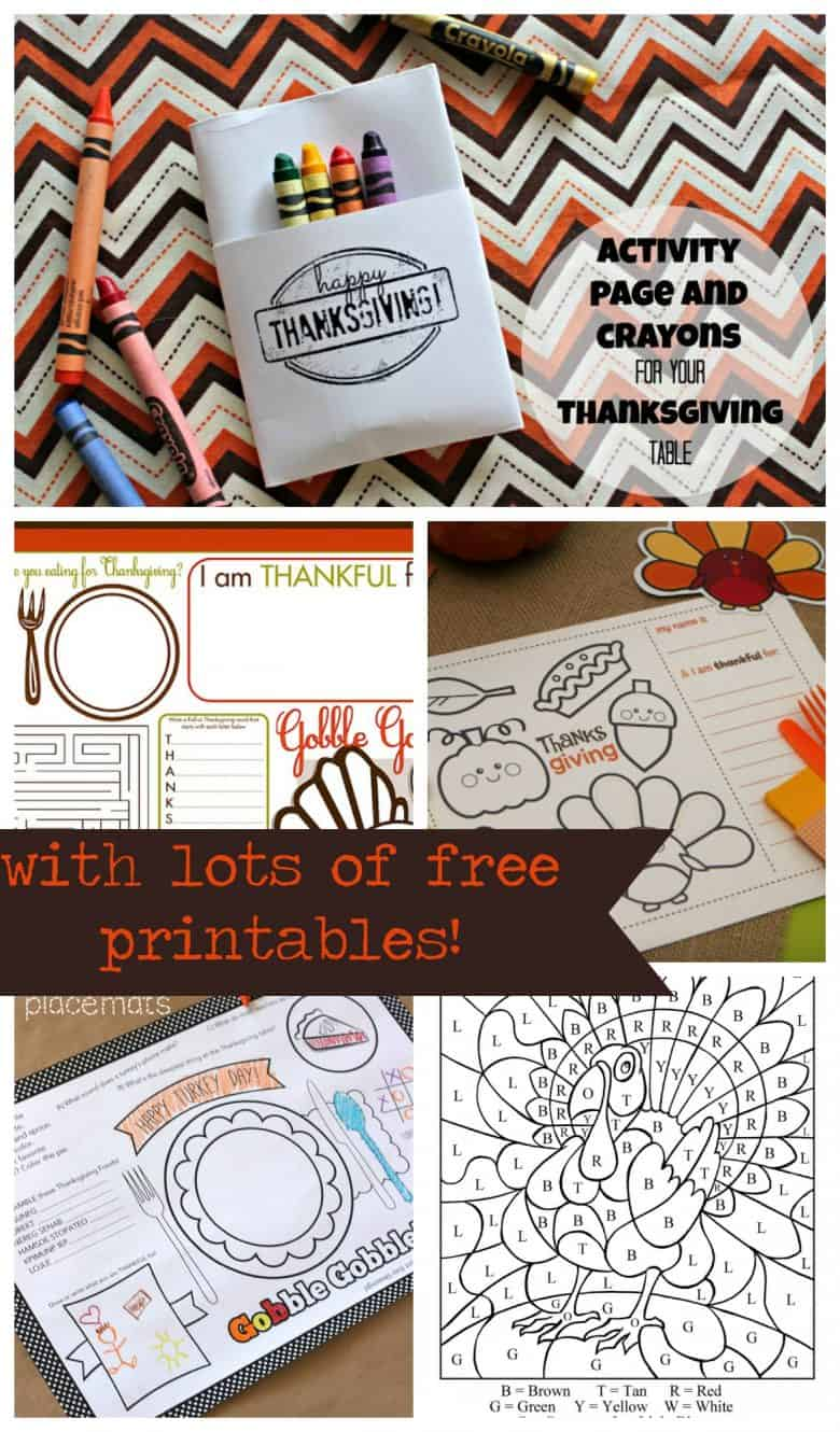 Thanksgiving Kid Printables