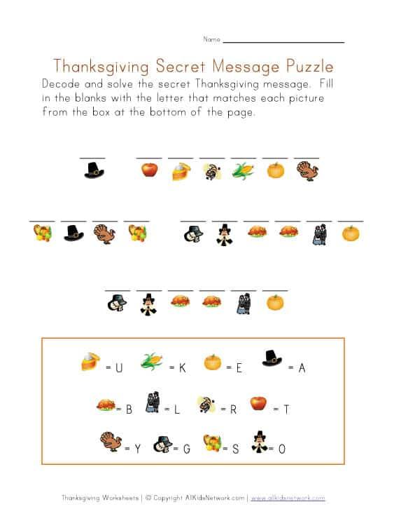 thanksgiving kid printables