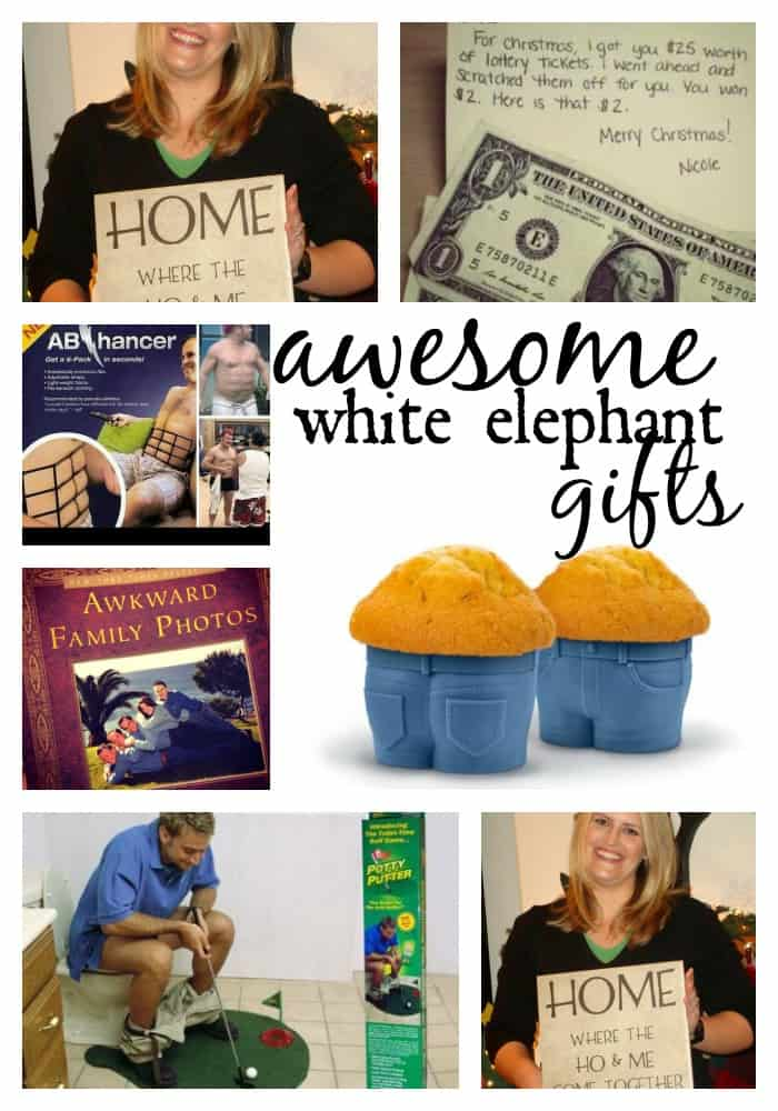 White elephant gifts a girl and glue gun