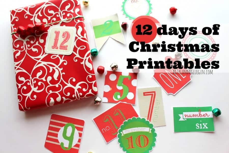 picture about 12 Days of Christmas Printable known as 12 times of xmas cost-free printable - A lady and a glue gun