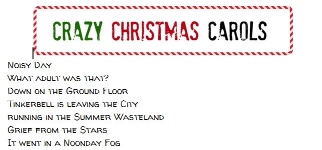 Capture crazy christmas carols