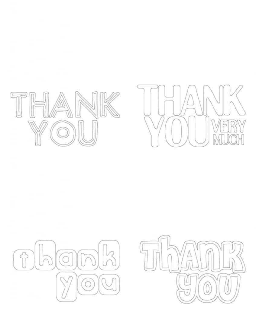 kids coloring-thank you cards -free printable