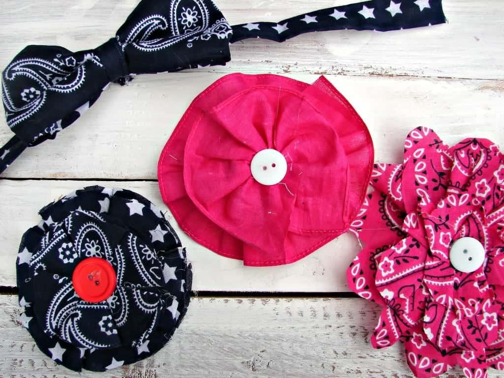 bandana hair bows