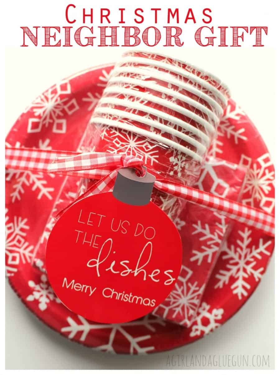 christmas neighbor gift..let us help with the dishes