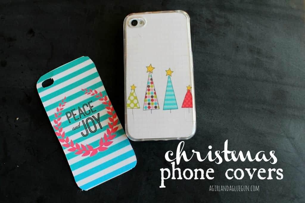 christmas phone covers free printables