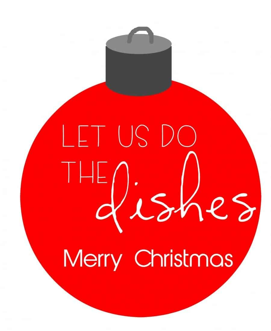 dishes printable