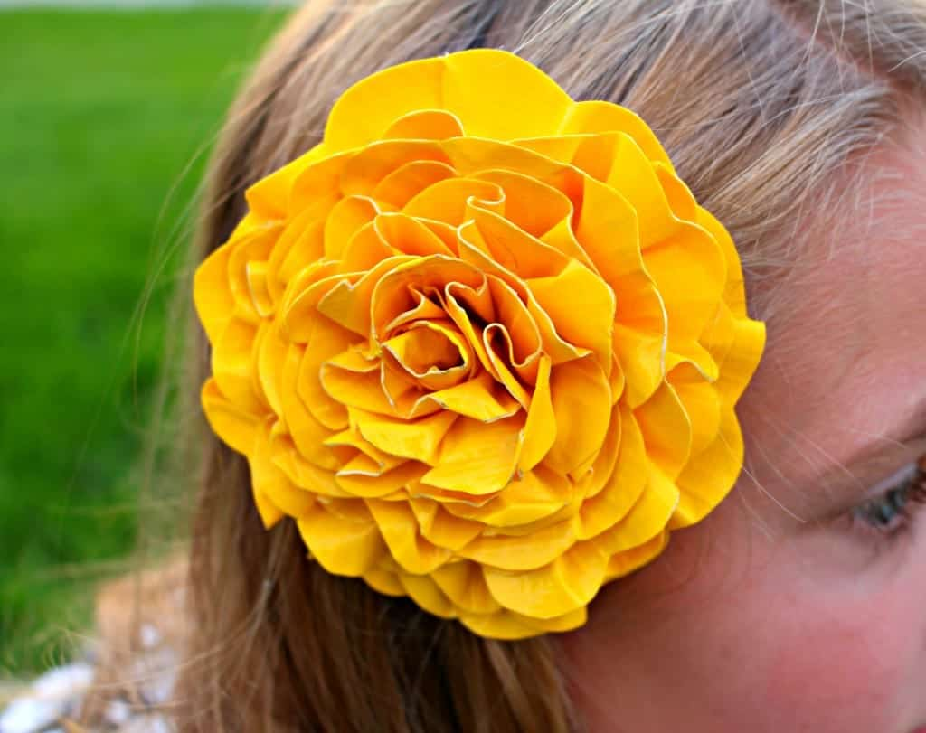 duck tape flower clip