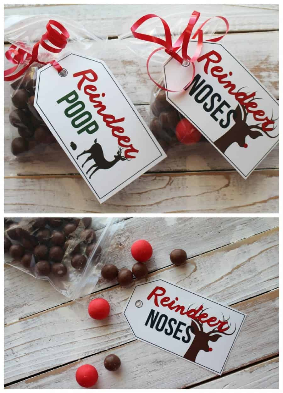 free printables--reindeer poop and noses
