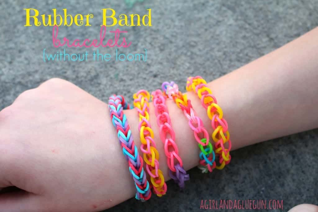 how to make rubber band bracelets without the loom