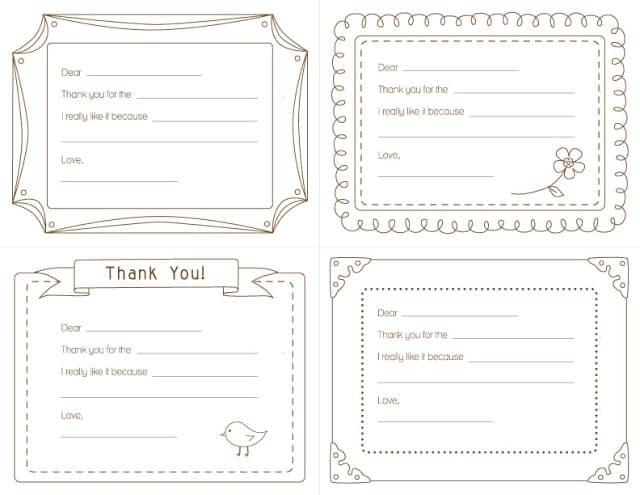 photograph regarding Printable Thank You Cards for Students titled young children coloring-thank by yourself playing cards -no cost printable! - A female and