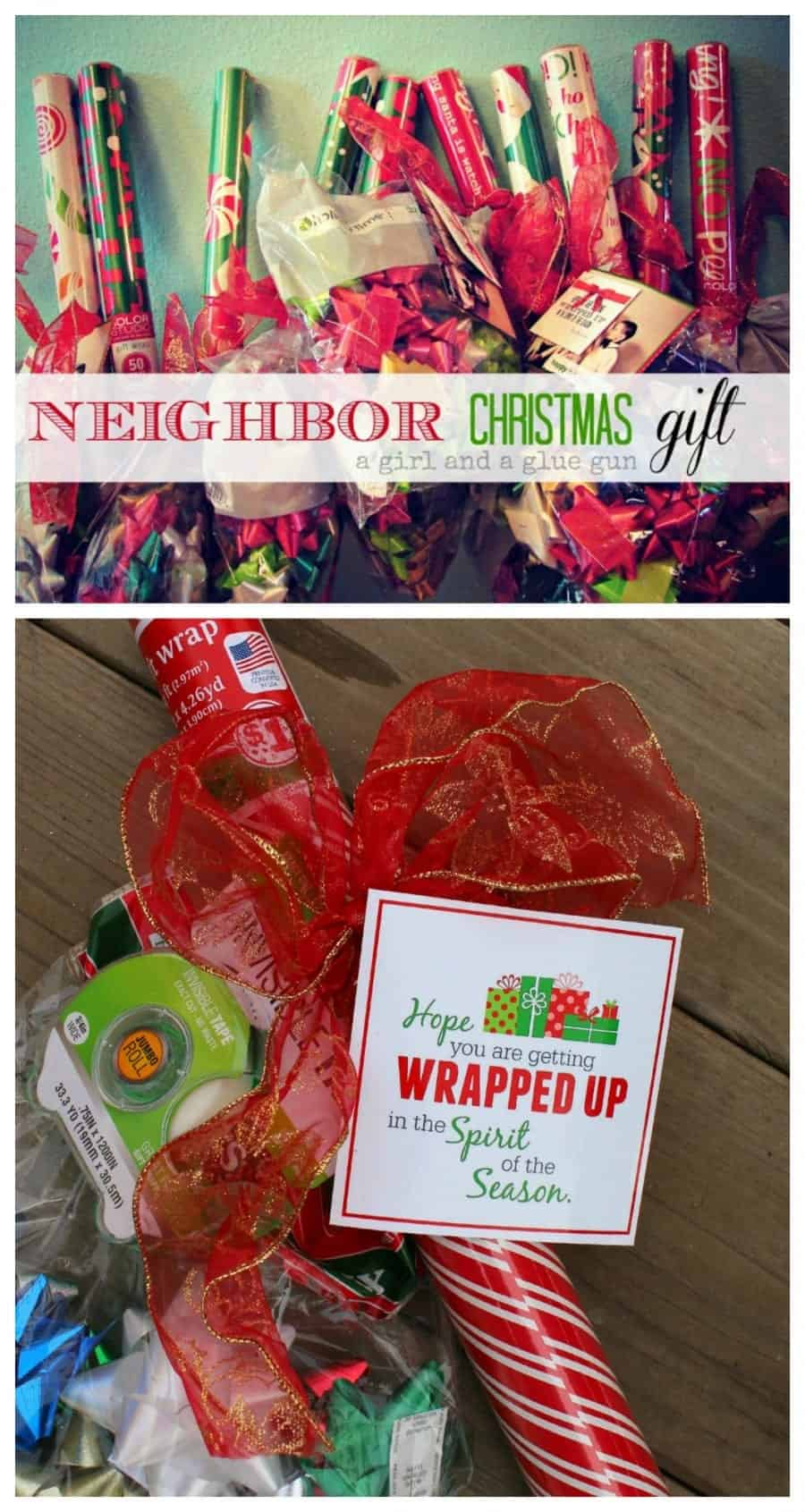 neighbor christmas gift...get wrapped up in the spirit