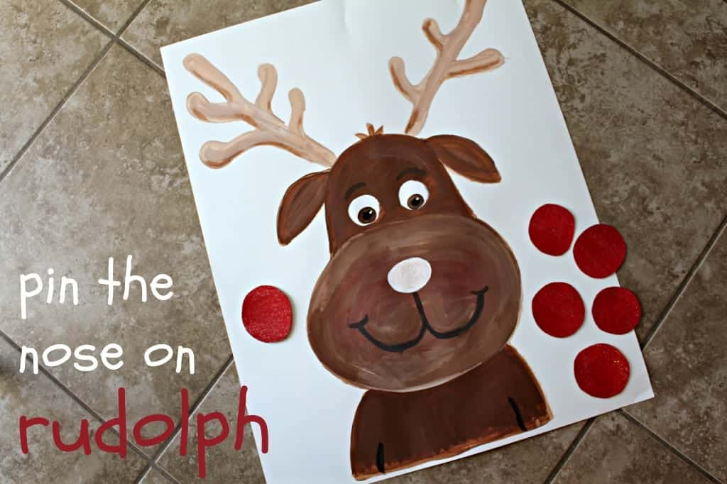 Clean image with pin the nose on the reindeer printable