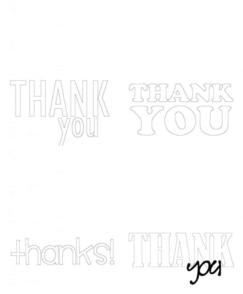 kids coloring-thank you cards -free printable! - a girl and a glue gun