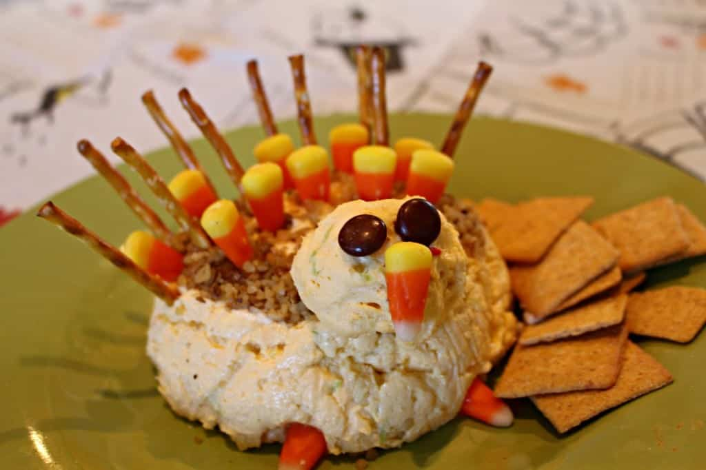 Turkey Cheese Ball Thanksgiving Appetizer A Girl And A