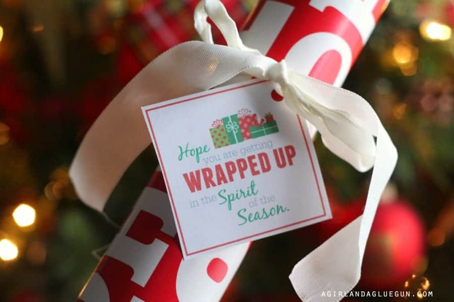 wrapping paper gift idea