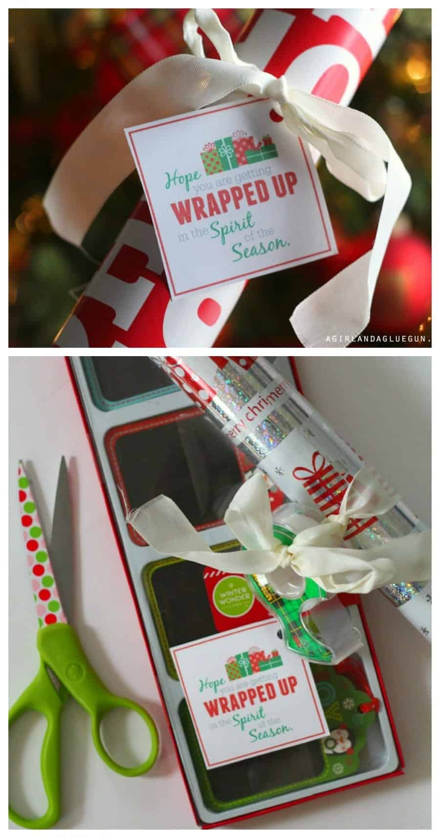 wrapping paper gift idea..perfect for neighbors
